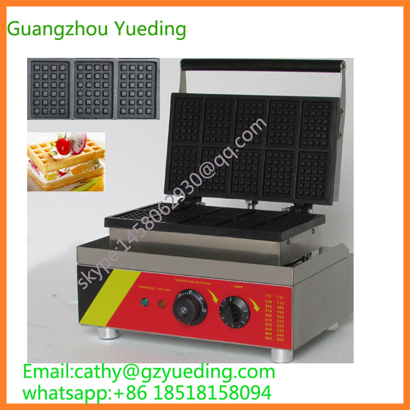 10pcs Commercial Use Non-stick 110v 220v Electric Square Belgian Liege Waffle Maker waffle machine 110v 220v electric belgian liege waffle baker maker machine iron page 3