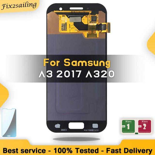 AMOLED LCD For SAMSUNG Galaxy A3 2017 A320 A320F A320M SM A320F Display Touch Screen Digitizer Replacement