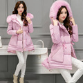 Warm Fashion Winter New women jacket coats down female Hooded cotton-padded coat Thick Wadded cotton plus size jacket coat PC45