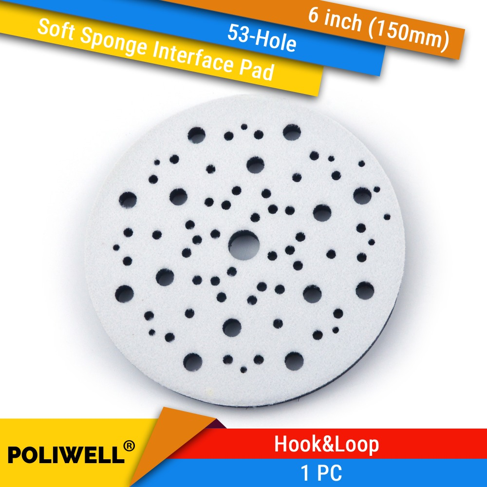 6 Inch(150mm) 53-Hole Soft Sponge Dust-free Interface Pad Multi-hole For 6