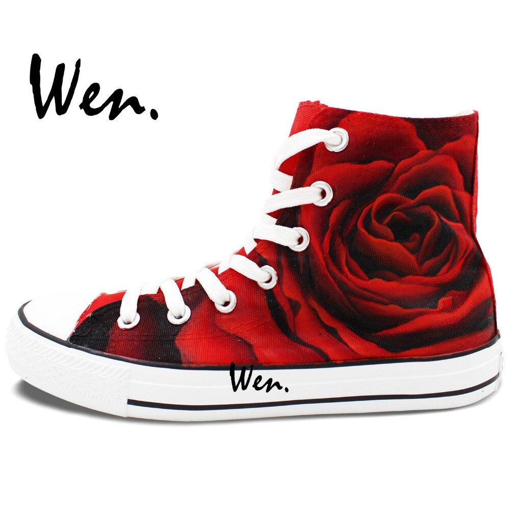 Wen izvorni dizajn prilagođene cipele ručno oslikane tenisice ruža - Tenisice - Foto 3