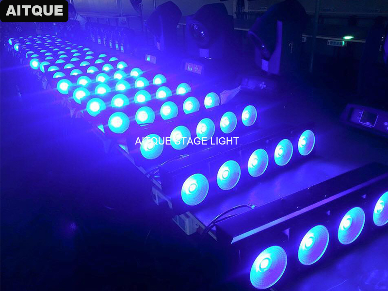 6pcs/flycase Led Light Matrix 5 Eyes 30w Stage Blinder Light 5x30w Audience LED Matrix Cob For Sale Floodlights Lighting