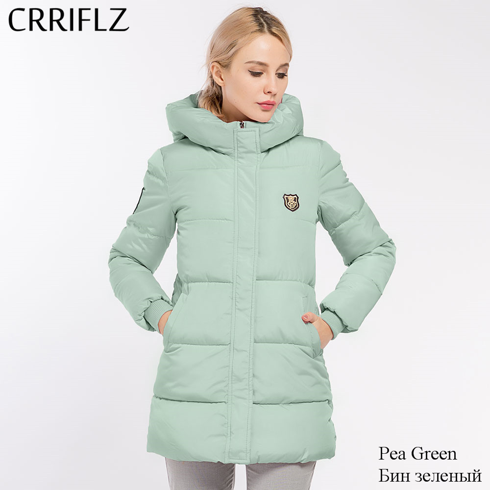 Causal Hooded Parkas Long Coat Woman's Basic Jackets Winter Wadded Jack
