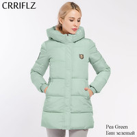 Causal Hooded Parkas Long Coat Woman's Basic Jackets Winter Wadded Jacket Women Padded Jackets Coats CRRIFLZ Winter Collection