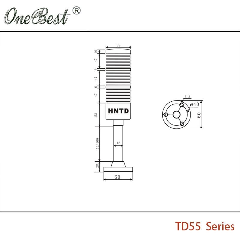 HNTD 24V LED indikator signal Upozorenje Svjetlo TD55 Semafori vrsta - Industrijska računala i pribor - Foto 3