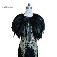 ruthshen real image Evening Dress Cape Stole Feather Wraps Shrug Bolero Coat Shawl Scarf