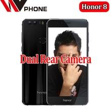 "Wv original huawei honor 8 4g lte teléfono móvil de doble cámara octa core android 6.0 5.2 ""FHD 1920*1080 4G RAM 64G NFC Huella Digital"