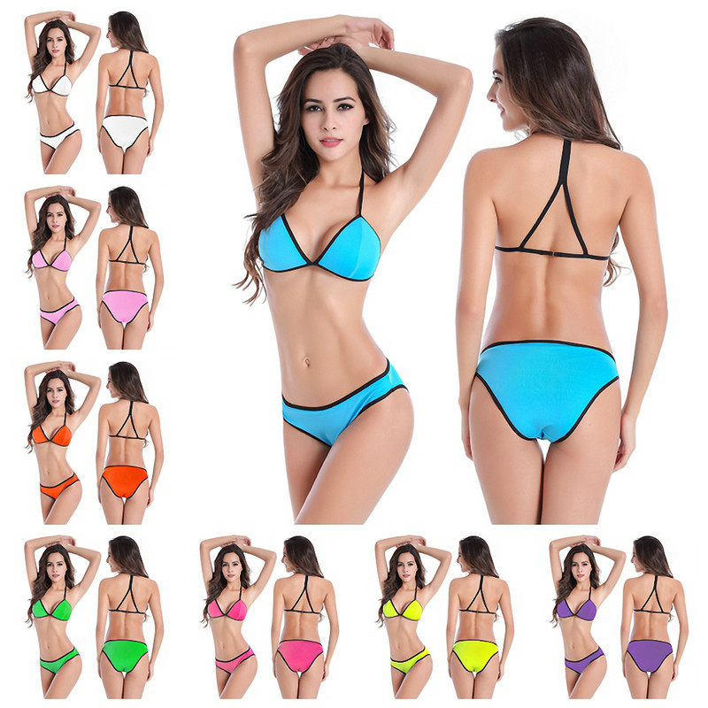 Female Favorite Back Cross - Straps Design Very Popular Hot Sales Sponge Pad <font><b>Beachwear</b></font> <font><b>Sexy</b></font> Lady <font><b>Bikini</b></font> M.L.<font><b>XL</b></font> DM069 image