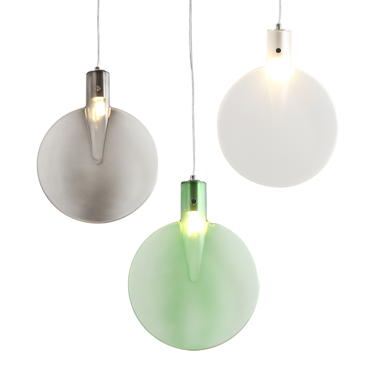 Nordic creative coloful glass E27 bulb pendant light fixture post mordern DIY home deco living room plant leaves pendant lamp