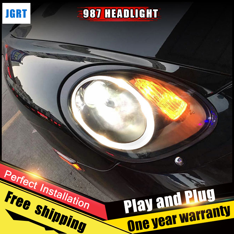 JGRT Car Style LED headlights for Porsche 987 2004-2008 for 987 head lamp LED DRL Lens Double Beam H7 HID Xenon bi xenon lens free shipping 2pc lot led lights hi q front direction indicator lamp for porsche boxster 987 up to 2008