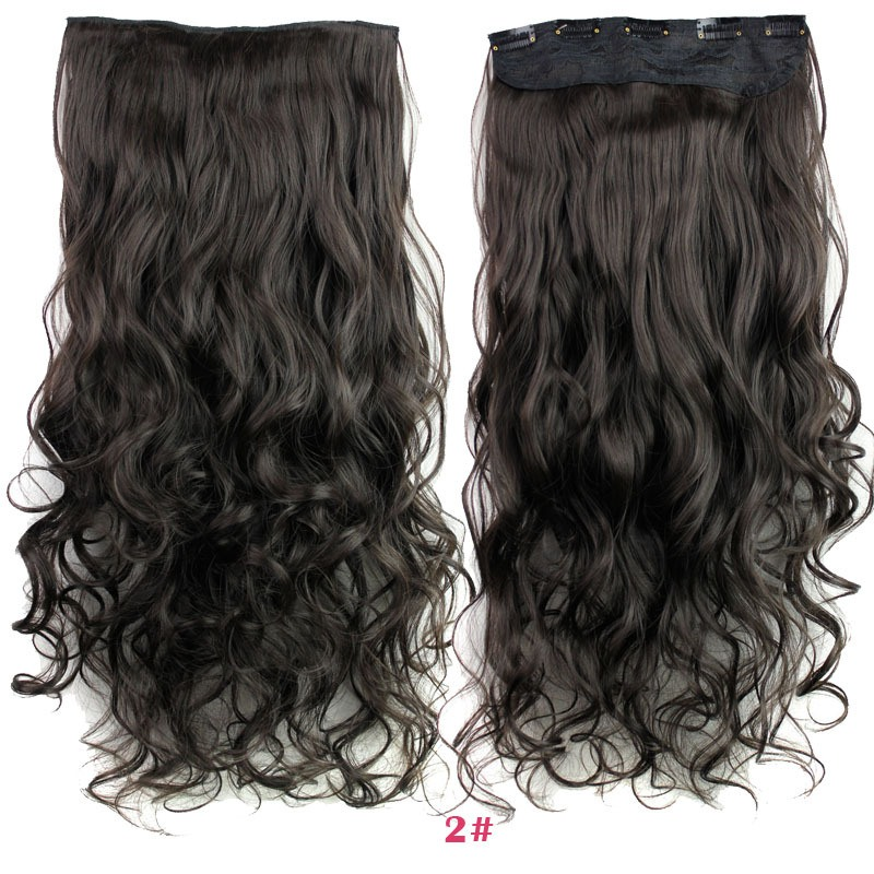 Rockstar wigs 16clors 24inches long wavy synthetic hair extensions rockstar wigs 16clors 24inches long wavy synthetic hair extensions 5clips in high temperature fiber black blond hairpiece in clip in one piece from hair pmusecretfo Images