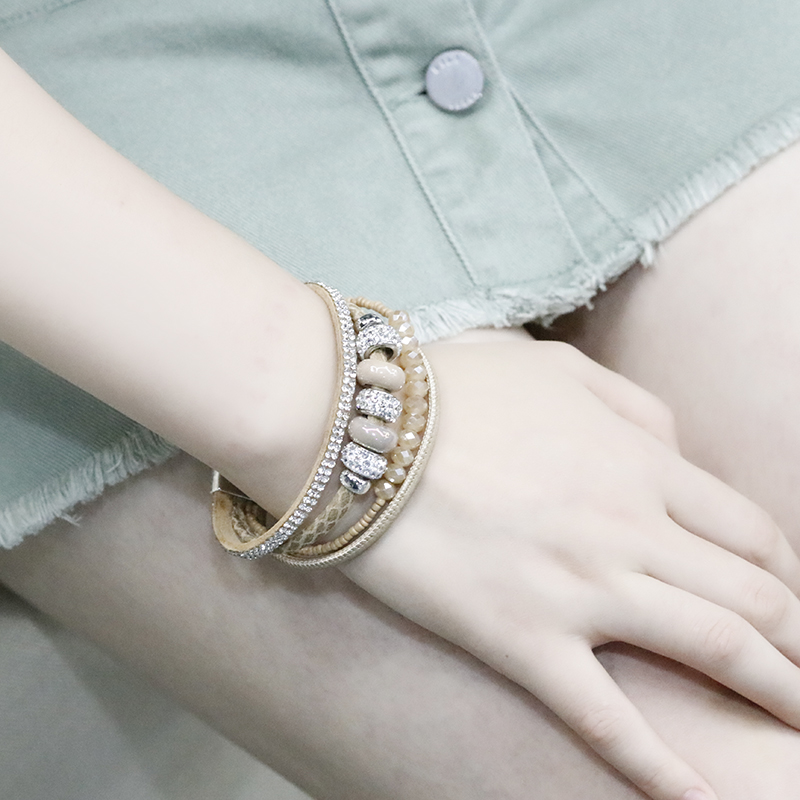 9b272781ea Aliexpress.com : Buy Rhinestone Alloy Leather Pearl Ceramic Vintage Cuff  Bracelet Bangles for Women Bracelet Jewelry Valentines Gift from Reliable  ...