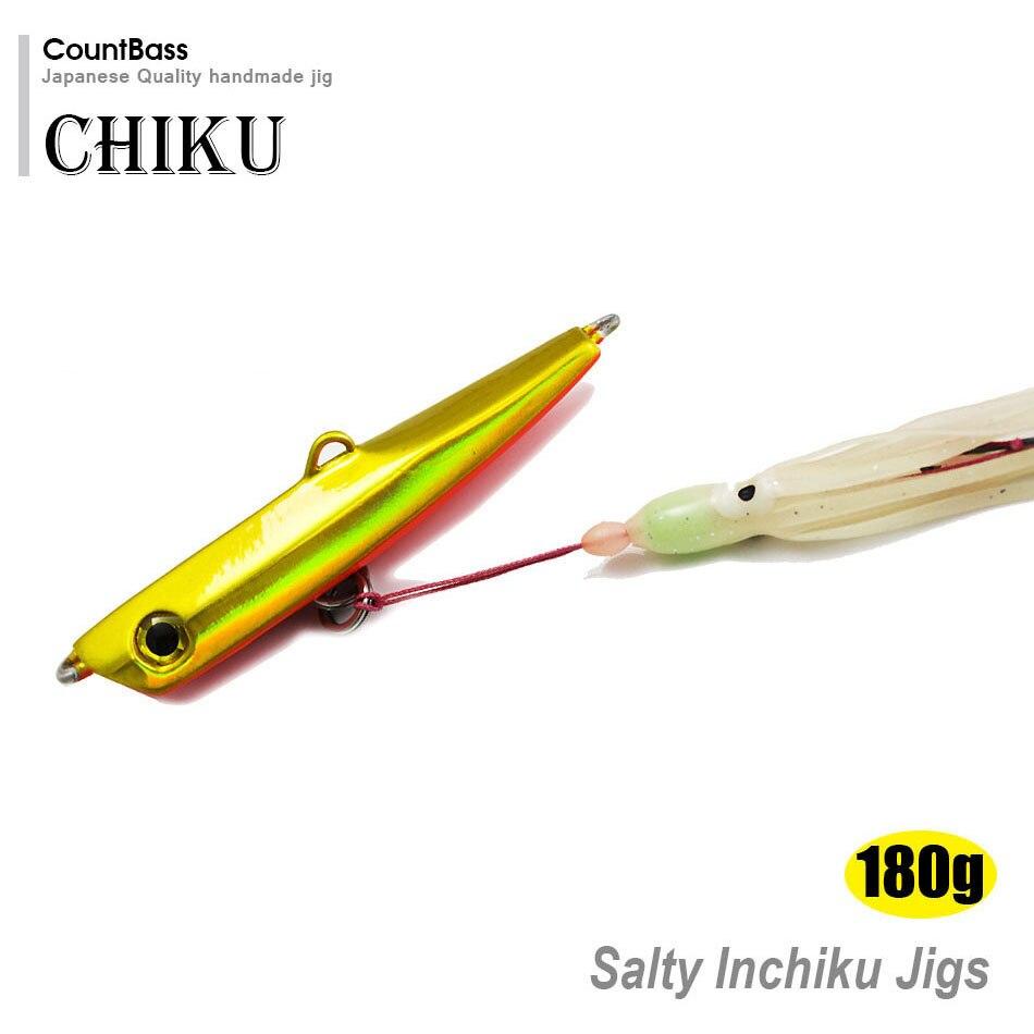 180g 6,3 unze Japanischen Stil Inchiku Jigs mit Octopus Unterstützen Haken, tintenfisch Jigging, salzwasser Boden Schiff Snapper Fischköder