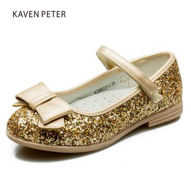 placeholder Princess Children s shoes girls Ballet dancers pink silver gold  dance shoes glitter pu leather toddler kids aae4811f1593