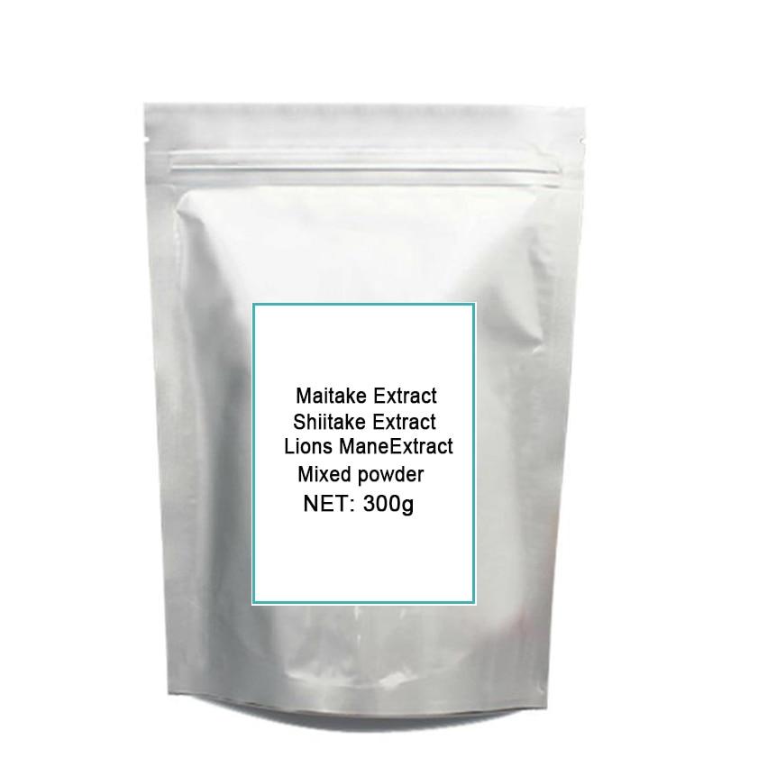 3 Mixed Mushroom 30% Polysaccharide Maitake Shiitake Lions Mane Extract Po-wder each 100gram total 300gram стоимость