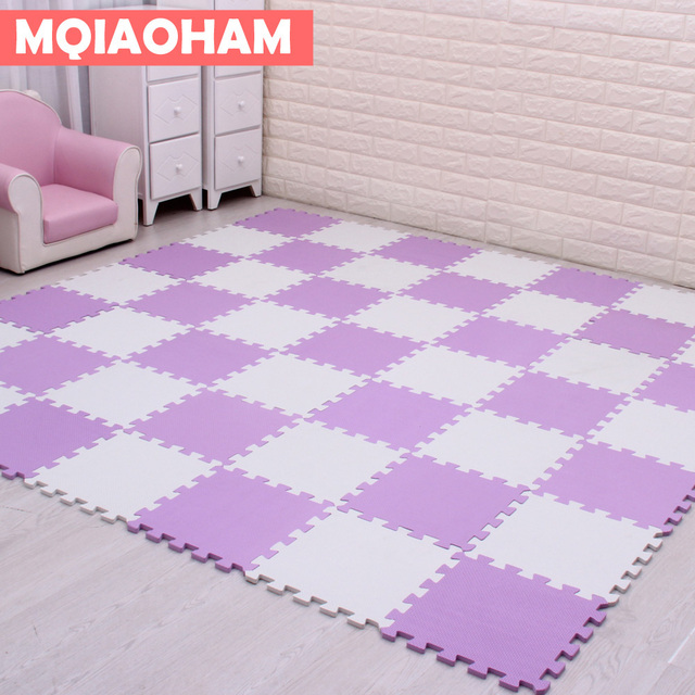 Mqiaoham Kids Eva Foam Tile Children Puzzle Mat Soft Home Flooring
