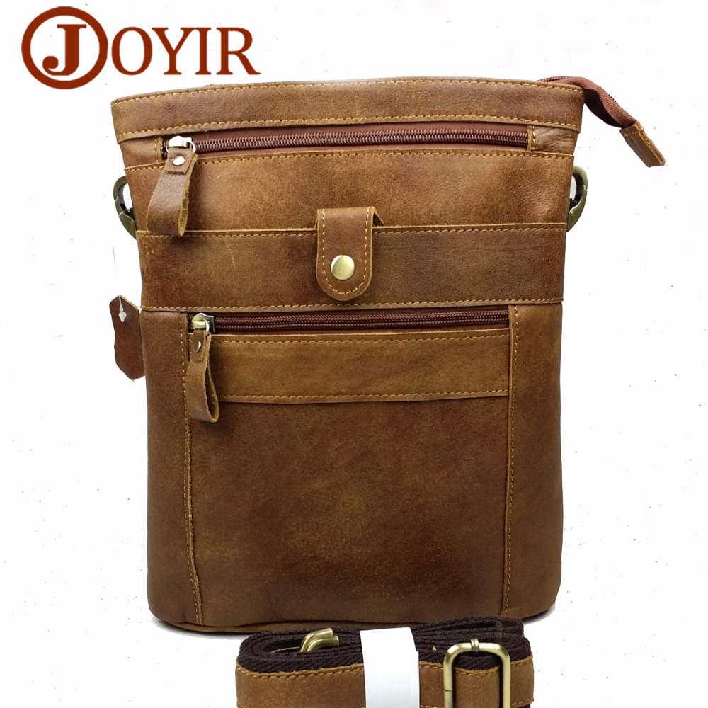 JOYIR Famous Brand Cow Leather Messenger Bags Fashion Vintage Genuine Leather Bag For Men Shoulder Bags Zipper Crossbody BagsJOYIR Famous Brand Cow Leather Messenger Bags Fashion Vintage Genuine Leather Bag For Men Shoulder Bags Zipper Crossbody Bags