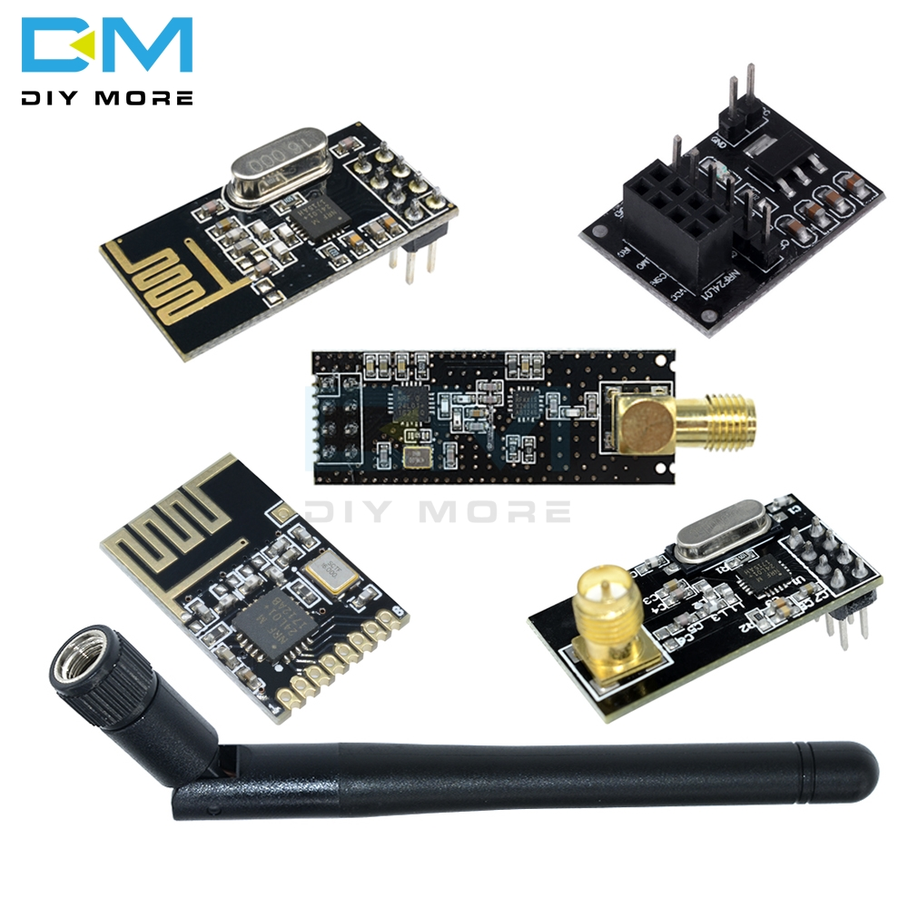 NRF24L01 Wireless Module Board 8 Pin Receiver Transmitter Microcontroller 2.4GHz Antenna Socket Adapter Plate Module For Arduino