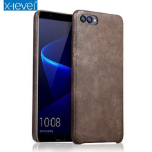 Honor V10 Case X-Level PU Leather Phone Case For Huawei Honor V10 Phone Case for Huawei Honor V 10 V10 Vingate Leather Case(China)