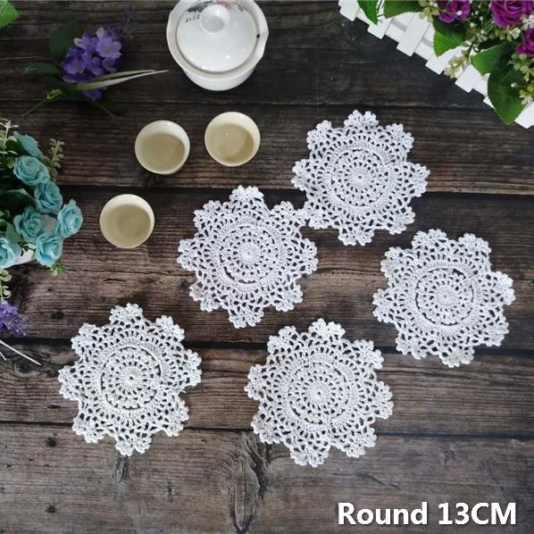 hand crochet   doily tea cup doily coasters 13 cm