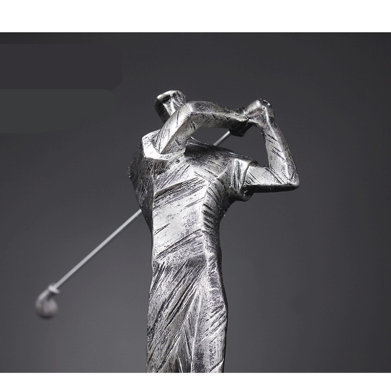 European Abstract Golf Sport Art Sculpture Athlete Figurine Figure Statue Resin Art&Craft Home Decoration Accessories R1396