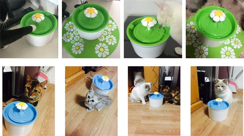 Flower Style Cat Water Drinking Fountain 9