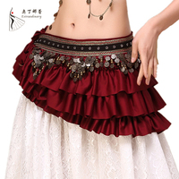 2017 New Tribal Bellydance Clothes Gypsy Costume Accessories Fringe Wrap Coins Belts Hip Scarf Belly Dance
