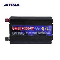 AIYIMA чистая Синусоидальная волна автомобильный инвертор 2000 Вт 12 В/24 В/48 В до 220 В усилитель преобразования мощности