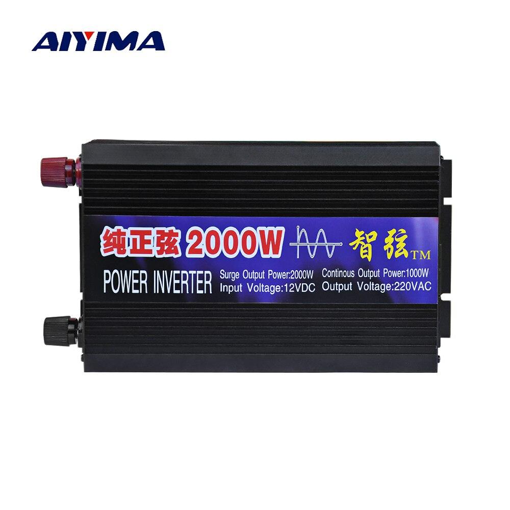 AIYIMA Reine Sinus Welle Auto Power Inverter 2000 watt 12 v/24 v/48 v Zu 220 v power Conversion Booster