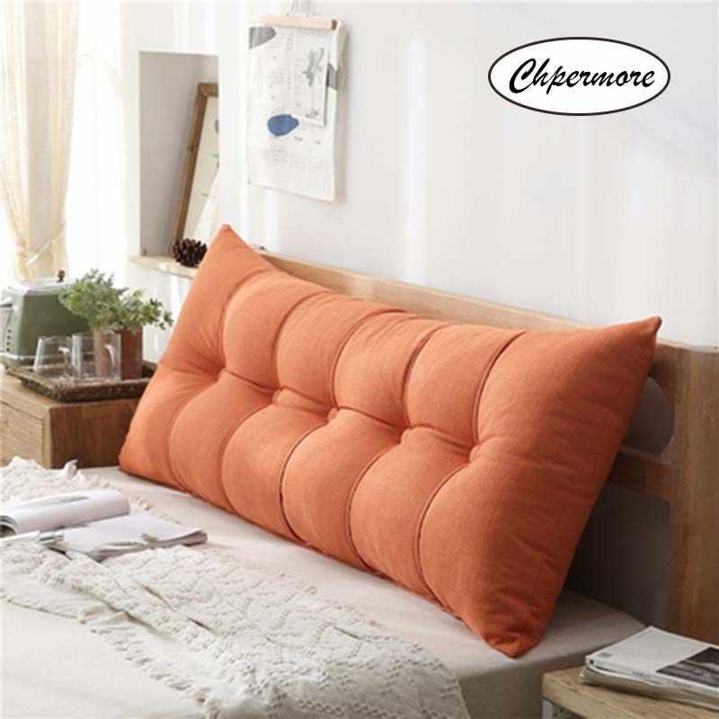 Chpermore многофункциональные однотонные двойные подушки Простая Кровать Подушка двойная кровать мягкий мешок Съемная кровать подушка для здорового сна