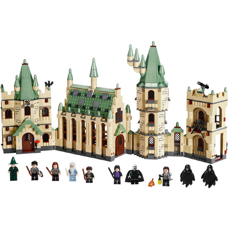 IN STOCK 16030 1340Pcs Creative Movies Series Harry Potter Hogwarts castle Set Model Building Block Children Toy Gift 4842 2pcs lot harry potter series death eater mask halloween horror malfoy lucius resin masks toy private party cosplay toys gift