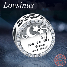 7e44cd5b2 Authentic 925 Sterling Silver I Love you to the moon and Back Beads Fits  Original Pandora
