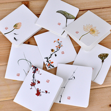 Free shipping on cards invitations in event party festive creative simple classical chinese style folding card christmas new year blessing universal greeting cardchina m4hsunfo