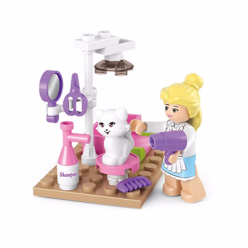 Cat Pet Figure Playmobil Models Building Educational Toys for Girls Birthday Gifts Building Blocks Compatible With