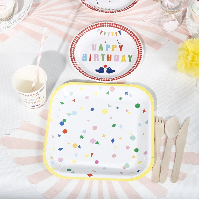 Riscawin 90pcs Happy Birthday Paper Plates Birthday Party Decoration For 10 Packs Disposable Tableware Set Baby  sc 1 st  AliExpress.com & Riscawin 90pcs Happy Birthday Paper Plates Birthday Party Decoration ...