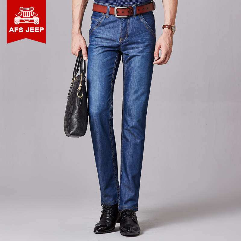 2016 New Autumn Winter Men Jeans AFS JEP Brand Jeans With Stretch hombre mcalca Jeans Big size 40 TOP Brand Jeans