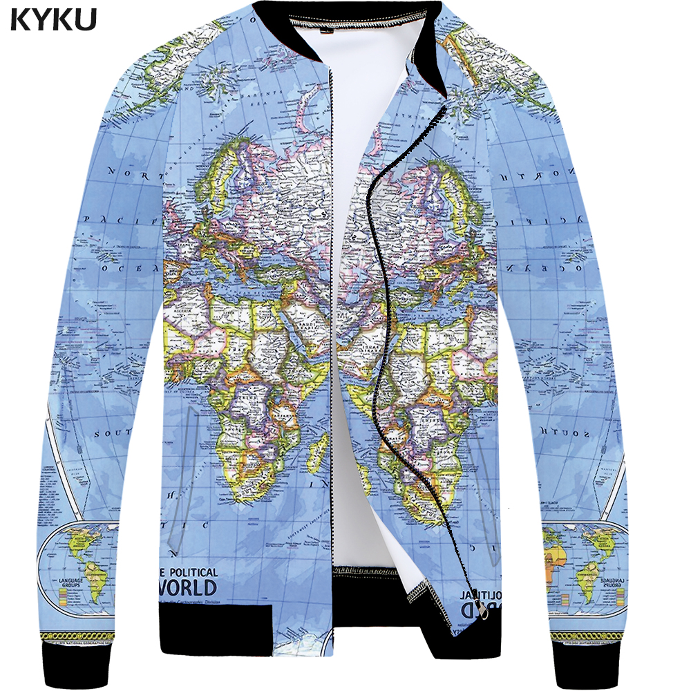 Kyku world map jacket men blue graphics jacket baseball 3d printed kyku world map jacket men blue graphics jacket baseball 3d printed coat slim vintage mens clothing streetwear autumn jackets new in jackets from mens gumiabroncs Gallery