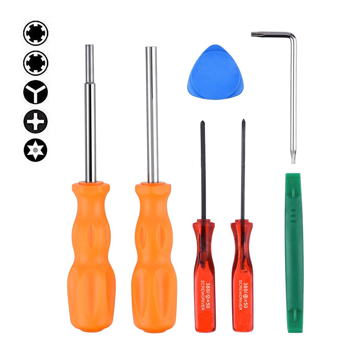 Hand tools Screwdriver Disassemble Repair Screw Tools for NDS/ NDSL/ DS Lite/ GBA/ GameBoy Game transparent black crystal case for nds lite
