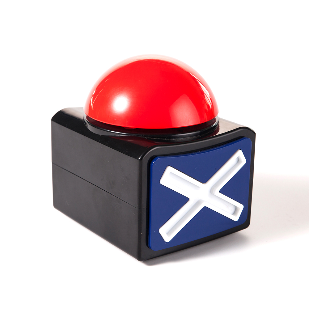 Mealivos XL Buzzer Alarm Button with Sound and Light Trivia Quiz Game