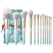 Professional 12Pcs Makeup Brush Set Soft Foundation Eyeshadow Blending Complete Make up Tool Kit with Bag