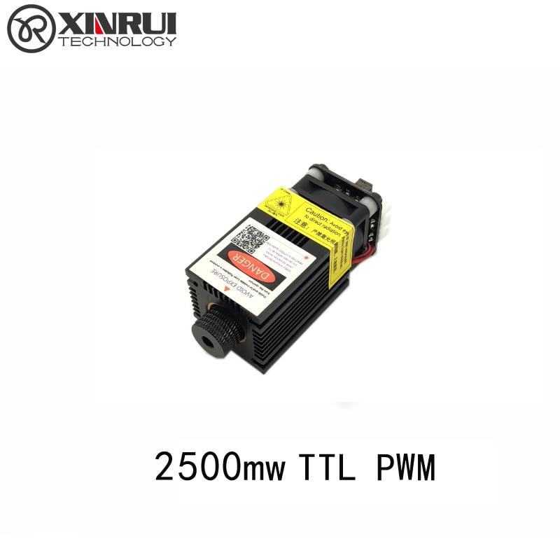 Kvaliteetne 2500mw 445NM teravustamine sinine lilla lasermoodul 2,5w lasertoru Lasermooduli diood hx2.54 2p port + kaitseprillid