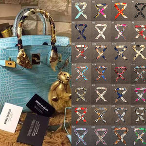 40 Colors New Silk Small Women Fashion Scarf Hair Bags Handle Decoration Tie Multifunction Hand Ribbon Scarf 4*100cm M30