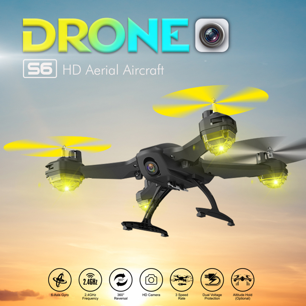 FPV RC Drone/Quadcopter with Camera Remote Control Altitude Dron Quadcopters Trajectory Fight/Phone control toys vs 8807W