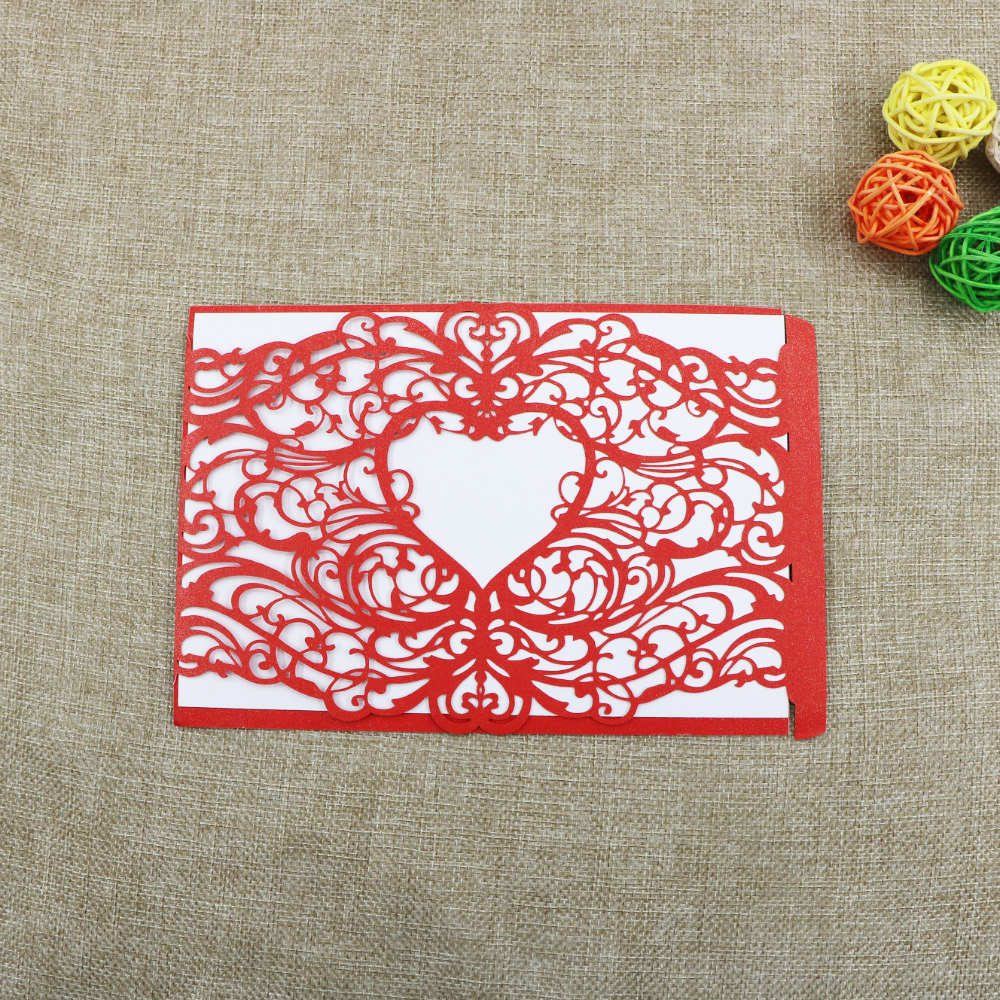 ZLJQ 30pcs Elegant Laser Cut Wedding Invitation Card Envelope Black ...