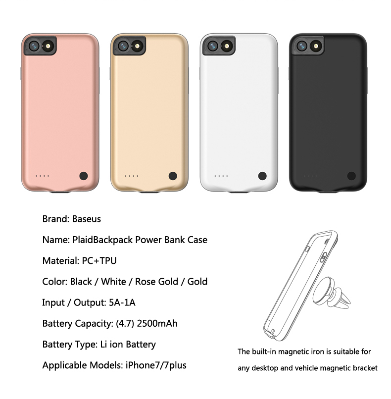 rose gold iphone 7 charger case