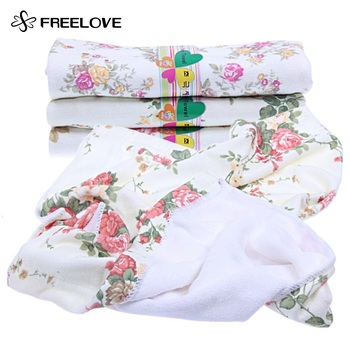 3 pieces/lot Chinese Flower Printed Microfiber Fabric Face Towels Printed Dobby Towels Strong Water Absorption Floral Towels pink floral towels