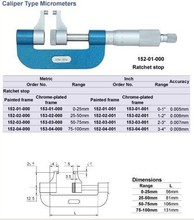 Best price Caliper Type Micrometers 0-25mm.0-1inch.152-01-000