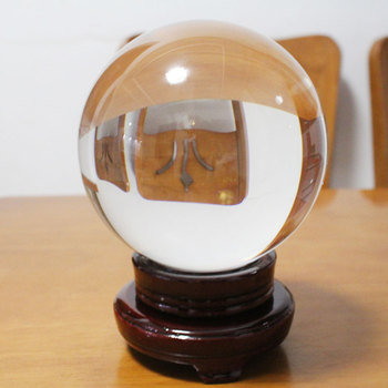 4 Dimensioni di Vetro Trasparente Sfera di Cristallo Healing Sfera Fotografia Puntelli Lensball Decor Regalo di Cristallo Altri Articoli E Attrezzatire per Feste E Party