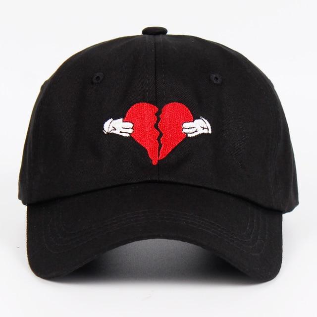 Newest Kanye West Heart Break Album Cap Trend Hip Hop Dad Hat Snapback  Kanye Fashion King 956d7494282a