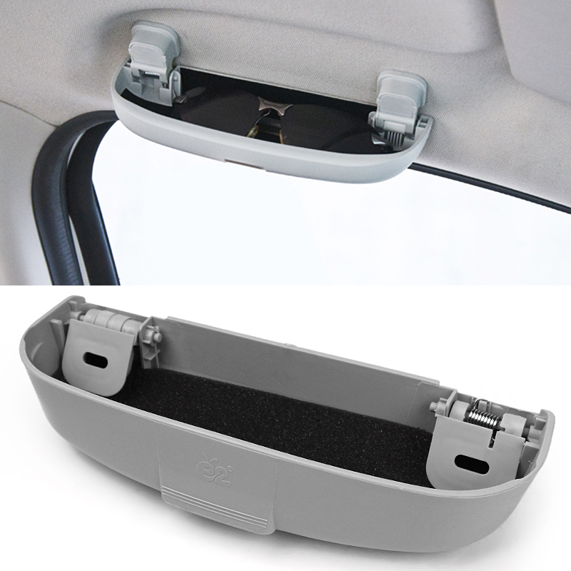 Car Glasses Case Ticket Pen Key Holder For Mitsubishi Pajero V73 Holder box Galant Lioncel ASX RVR Car Sunglasses Case
